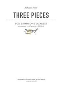 Cover Johann Pezel Three Pieces for Trombone Quartet