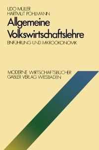Cover Allgemeine Volkswirtschaftslehre