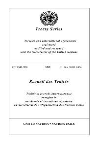 Cover Treaty Series 2938/Recueil des Traités 2938