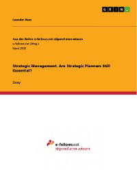 Cover Strategic Management. Are Strategic Planners Still Essential?