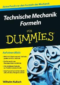Cover Technische Mechanik Formeln für Dummies