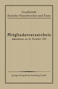 Cover Mitgliederverzeichnis