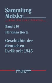 Cover Geschichte der deutschen Lyrik seit 1945