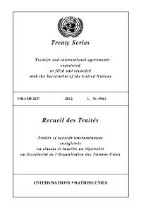 Cover Treaty Series 2837 / Recueil des Traités 2837