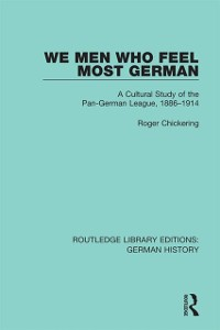 Cover We Men Who Feel Most German