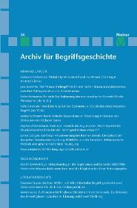 Cover Archiv für Begriffsgeschichte. Band 58