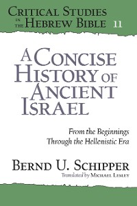 Cover A Concise History of Ancient Israel