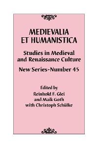 Cover Medievalia et Humanistica, No. 45