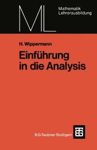 Cover Einfuhrung in die Analysis