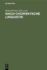 Cover Nach-Chomskysche Linguistik