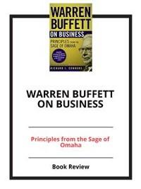 Cover Warren Buffett on Business