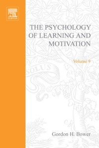 Cover Psychology of Learning and Motivation