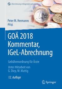 Cover GOÄ 2018 Kommentar, IGeL-Abrechnung