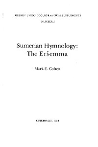Cover Sumerian Hymnology