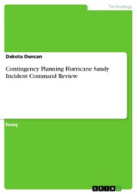 Cover Contingency Planning Hurricane Sandy Incident Command Review