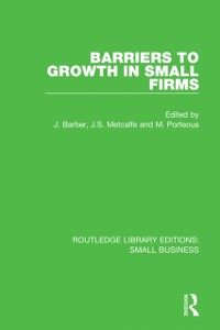 Cover Barriers to Growth in Small Firms