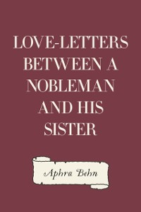 Cover Love-Letters Between a Nobleman and His Sister