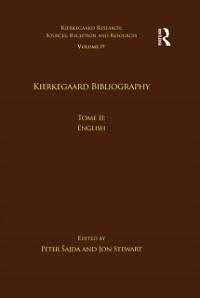Cover Volume 19, Tome II: Kierkegaard Bibliography
