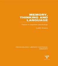 Cover Memory, Thinking and Language (PLE: Memory)