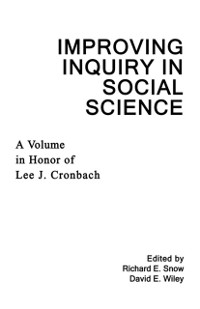 Cover Improving Inquiry in Social Science