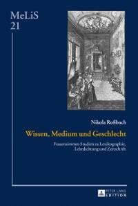 Cover Wissen, Medium und Geschlecht