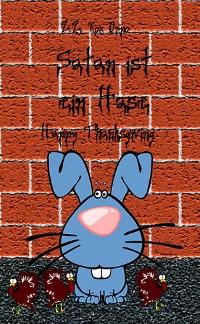Cover Satan ist ein Hase Happy Thanksgiving