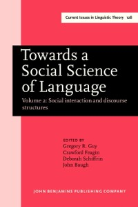 Cover Towards a Social Science of Language
