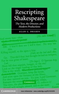 Cover Rescripting Shakespeare