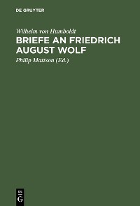 Cover Briefe an Friedrich August Wolf