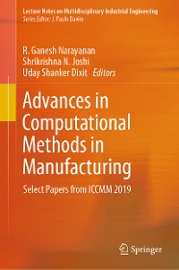 Cover Advances in Computational Methods in Manufacturing