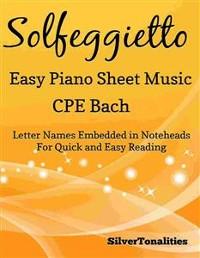 Cover Solfeggietto Easy Piano Sheet Music