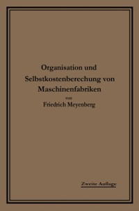 Cover Einfuhrung in die Organisation von Maschinenfabriken