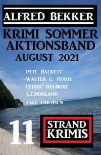 Cover Krimi Sommer Aktionsband August 2021: 11 Strand Krimis