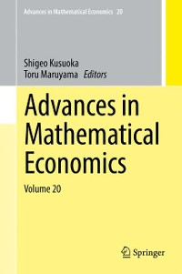 Cover Advances in Mathematical Economics Volume 20