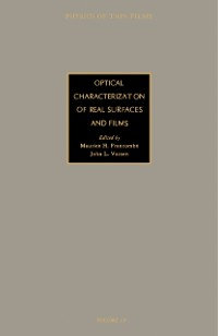 Cover Optical Characterization of Real Surfaces and Films