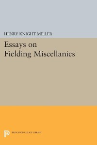Cover Essays on Fielding Miscellanies