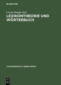 Cover Lexikontheorie und Wörterbuch