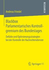 Cover Blackbox Parlamentarisches Kontrollgremium des Bundestages