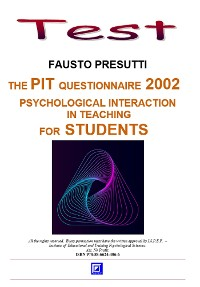 Cover The PIT Questionnaire 2002  for Students