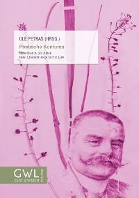Cover Poetische Konturen – Materialien zu 20 Jahren Kieler Liliencron-Dozentur für Lyrik