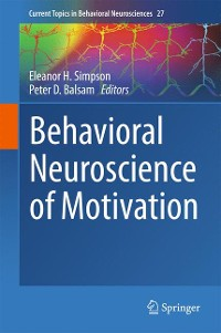 Cover Behavioral Neuroscience of Motivation