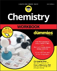 Cover Chemistry Workbook For Dummies with Online Practice