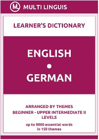 Cover English-German (the Theme-Arranged Learner's Dictionary, Steps 1 - 6)