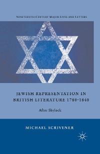 Cover Jewish Representation in British Literature 1780-1840