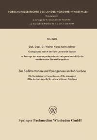 Cover Zur Sedimentation und Epirogenese im Ruhrkarbon