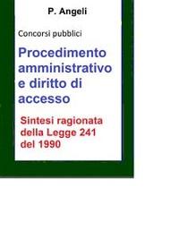 Cover Procedimento amministrativo e diritto di accesso