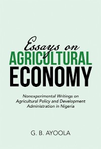 Cover Essays on Agricultural Economy