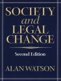 Cover Society and Legal Change 2Nd Ed