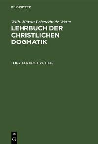 Cover Der positive Theil