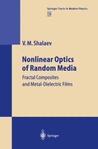 Cover Nonlinear Optics of Random Media